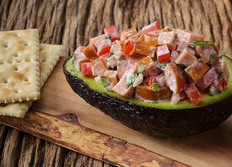 Sausage-stuffed Avocado