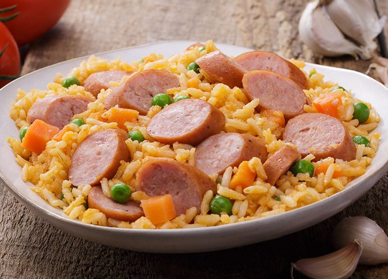 Sausage with Rice